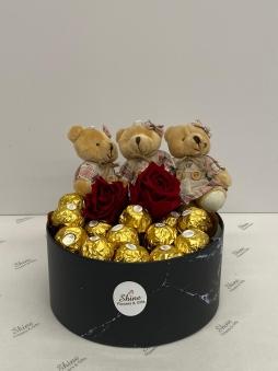 Çikolata - Kırmızı Gül